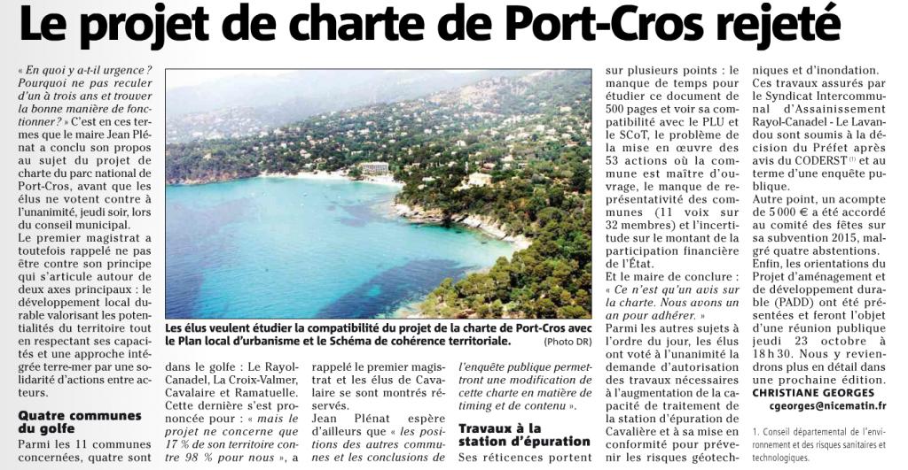 VM-19-10-2014-Le Rayol Rejet Charte de P.CR